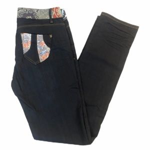 DESIGUAL Slim Fit Decorated Jeans Desigual - 30